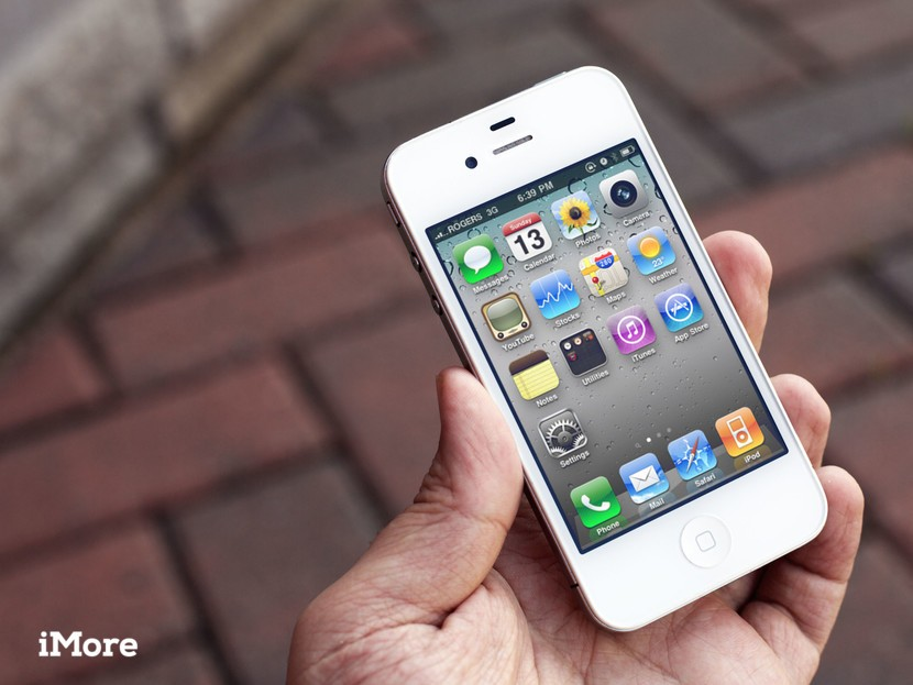 iphone in user hand